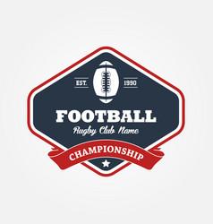 american football championship logo sport design vector image