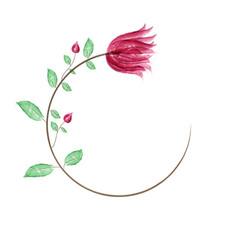 Art sketching floral background vector