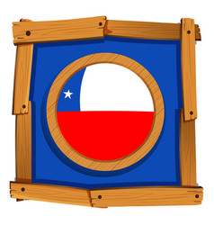 badge design for chile flag vector image