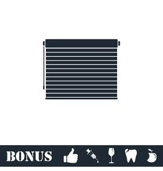 Blinds icon flat vector image