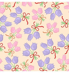 Bouquet pattern pastel vector