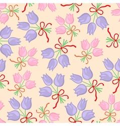 Bouquet pattern pastel vector