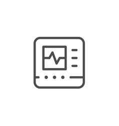 Cardiograph line icon vector