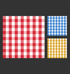 checkered tablecloth seamless pattern table cloth vector image