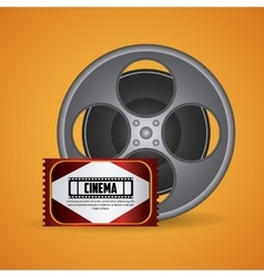 Cinema design Movie icon Colorful vector image