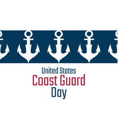 coast guard day august 4 holiday concept vector image