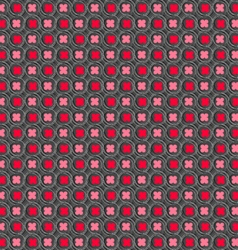 Colored red and pink with hairy circles vector