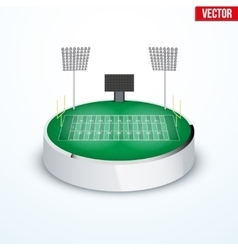Concept of miniature round tabletop American vector