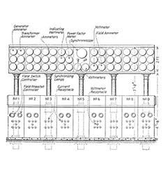 Control desk vintage vector