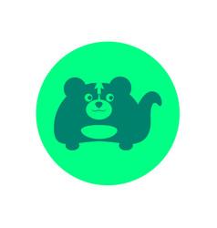 Cute skunk circular icon vector