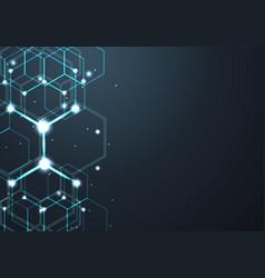 digital blue geometric background design vector image