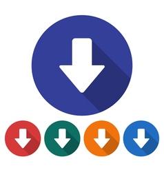 Downward direction arrow icon vector