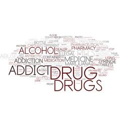 drug word cloud concept vector image