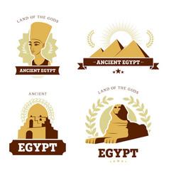 Egypt travel flat banner set vector