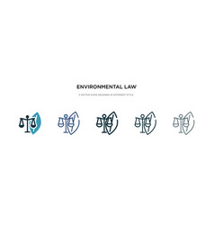 environmental law icon in different style two vector image