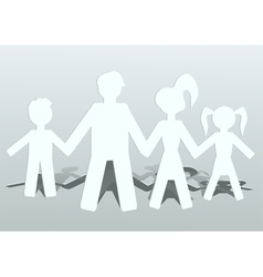 family of four vector image
