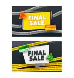 final sale advertising banners set black grungy vector image