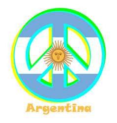 Flag of arentina as a sign of pacifism vector
