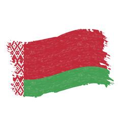 Flag of belarus grunge abstract brush stroke vector