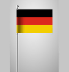 flag of germany national flag on flagpole vector image