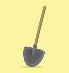flat shovel vector image