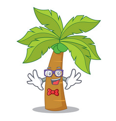 Geek palm tree character cartoon vector