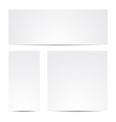 Gray paper set vector image
