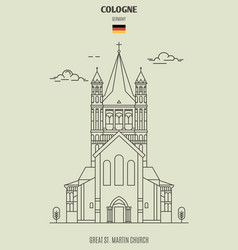 great st martin church in cologne vector image