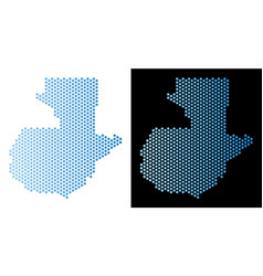 Guatemala map hex-tile abstraction vector