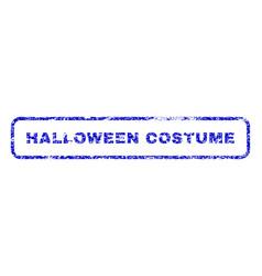 Halloween costume rubber stamp vector