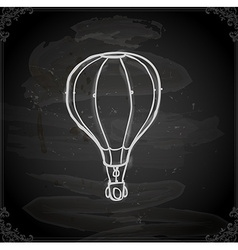 Hand Drawn Hot Air Balloon vector image
