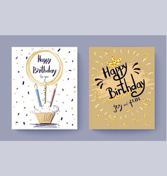 happy birthday to you joy and fun festive postcard vector image