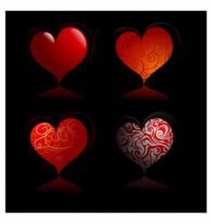 Heart-shapes vector