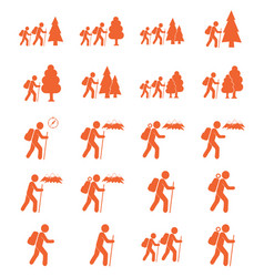 Hiking icon isolated vector