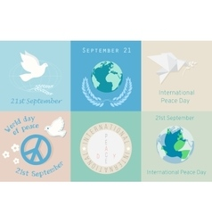 International Day of Peace design symbols vector