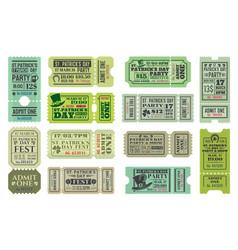 Irish pub patricks day party ticket templates vector
