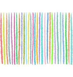 Irregular lines pattern in mixed colors over white vector