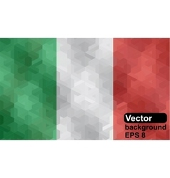 Italian flag made of geometric shapes vector image