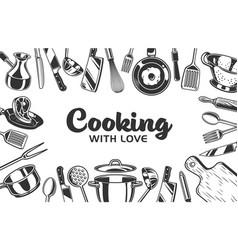 kitchen background vector image