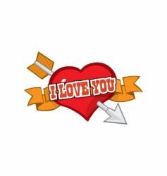 Love you symbol vector