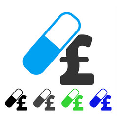 Medication pound business flat icon vector