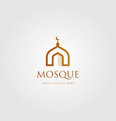 Mosque building logo simple luxury icon design vector