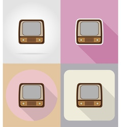 Multimedia flat icons 08 vector
