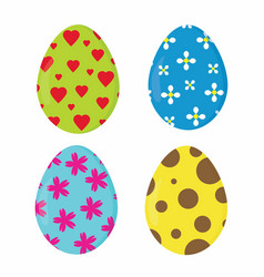 Nice easter eggs vector