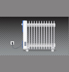 oil radiator isolated on horizontal transparent vector image