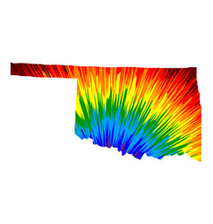 Oklahoma - map is designed rainbow abstract vector