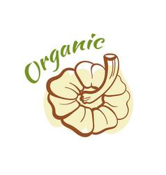 organic badge design vector image