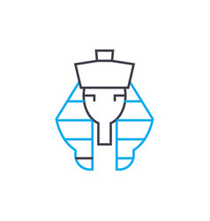 Pharaoh linear icon concept pharaoh line vector