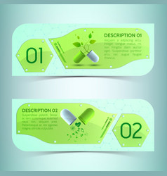 pharmaceutics horizontal banners set vector image