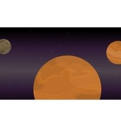 Planet space landscape of vector image